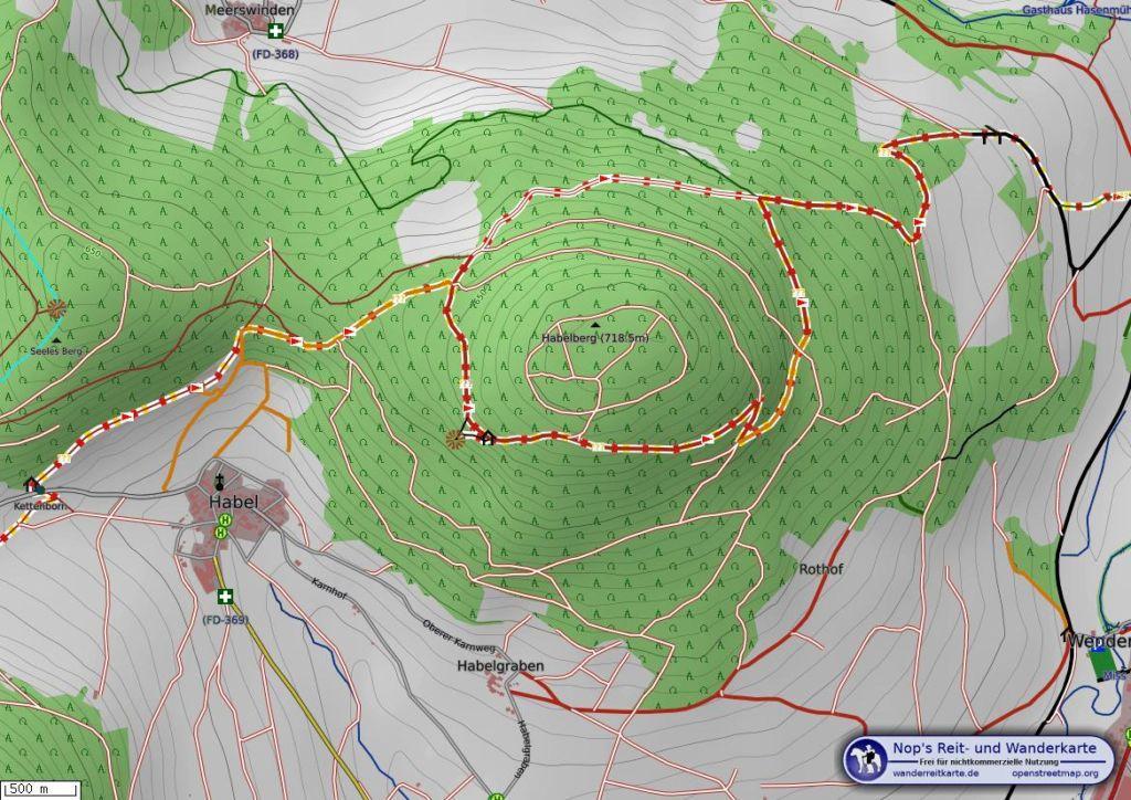 Habelstein Rhoen Karte