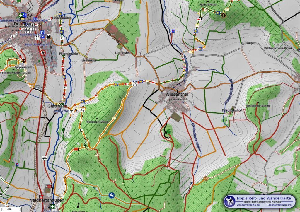 Wiesenthaler Schweiz Karte